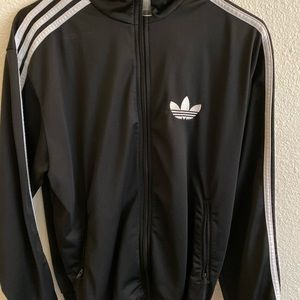 Black adidas zip up